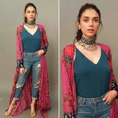 Aditi Rao Hydari is a Style Diva!) Whether it comes to the right attitude to carry the outfit or breaking Fashion Rules, this Fashionista gives some major Style Goals. Casual Summer Dresses, Stylish Dresses, Fashion Dresses, Dress Casual, Outfit Summer, Maxi Dresses, Fashion Pants, Indian Designer Outfits, Indian Outfits
