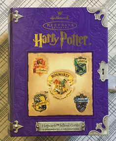 Harry Potter Hogwarts School Crests Set Pewter Keepsake Ornament Hallmark 2001 in Collectibles, Decorative Collectibles, Decorative Collectible Brands | eBay
