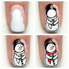 Tutorial - Snowman -Indigo Nails Lab -  Find more Inspiration at www.indigo-nails.com #Nail #Christmas #Mani