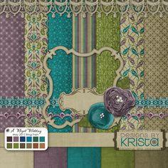 Heritage scrapbook kit- I like the color combo