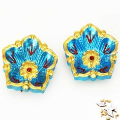 Buy set of two flower diya at low price from mebelkart.com