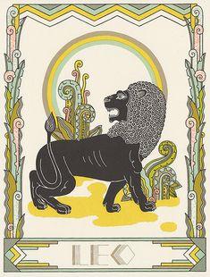 précis d'astrologie de Leo par animalsleep sur Etsy