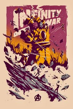 Avengers: Infinity War poster by Marie Bergeron : Marvel Poster Marvel, Marvel Movie Posters, Best Movie Posters, Movie Poster Art, Marvel Art, Cool Posters, Marvel Dc Comics, Marvel Heroes, Comic Poster