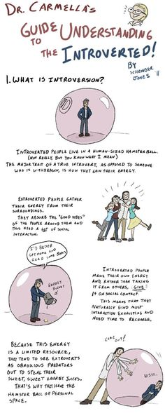 Guide to understanding introverts This is SO true, as I am an introvert!
