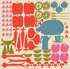 Klas Fahlén - Illustrators - Agent Bauer, knolled food in illustration