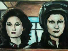 Artwork from V... Commander Diana and Captain Alice... featuring sisters Jane and Alice Badler :)... painting by Beatrice Tozzi