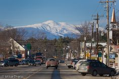 North Conway, NH. A little East Coast loving. Quaint and beautiful. Mount Washington in the background.