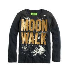 Boys' glow-in-the-dark moon walk tee : graphics | J.Crew