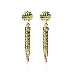 Veronese Orecchini a serpente in argento 925 placcato oro