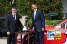 Tony Stewart - Obama Welcomes Tony Stewart And NASCAR Drivers To White House