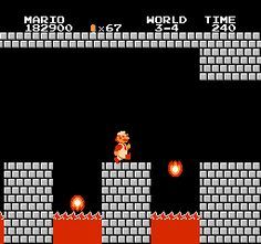 I love playing Super Mario Bros.! Too bad I don't have an NES or SNES...