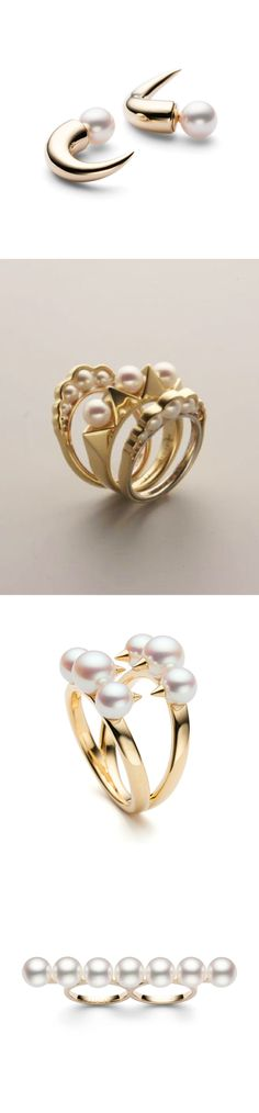 TASAKI- gold and pearls. Love the mix of edgy and feminine!