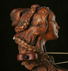 2006 Simonetta, head for renaissance small viol, pear wood