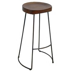 Measurements:Length: 46cm Width: 46cm Height: 75cm Material Used:Metal Bar and Mango Wood Finish:English Cherry on Wood; Chippy White on Metal