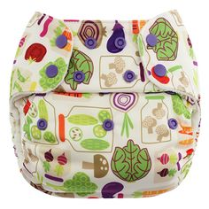 Blueberry -One Size Simplex All In One Diaper w/ Organic Cotton