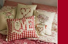 love frou-frou pillows