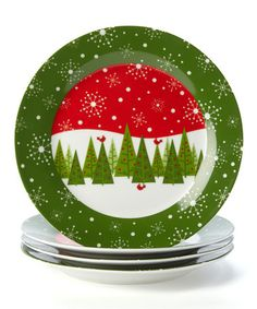 Take a look at this Forest Plate - Set of Four by Design Imports on #zulily today!