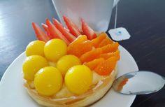 Mango, strawberry and mandarin tart