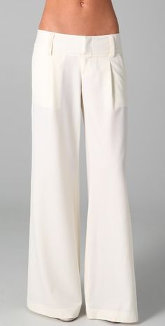 Ivory trousers in wool for winter from Alice + Olivia. $192.50 from shopbop.com