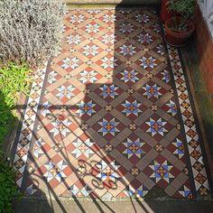 Ornate Victorian Tiled Path. London.