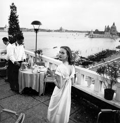 Susan Abraham, photo by Henry Clarke, Venice, Italy 1950s