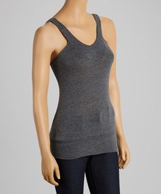 Loving this Clothing Showroom Charcoal Basic Tank on #zulily! #zulilyfinds