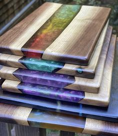 Diy Resin Table, Epoxy Wood Table, Epoxy Resin Table, Epoxy Resin Art, Diy Epoxy, Diy Resin Art, Diy Resin Crafts, Diy Home Crafts, Wood Crafts