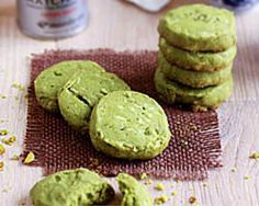 MATCHA ALMOND COOKIES:   1/2 cup (1 stick) unsalted butter, softened 1/2 cup packed powdered sugar 1 cup all purpose flour 1 tablespoon matcha powder 1/8 teaspoon salt 1/3 cup sliced almonds, lightly chopped