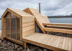 Oslo architecture students build a wooden sauna that steps over the Norwegian landscape. Eco Architecture, Architecture Portfolio, School Architecture, Architecture Details, Drawing Architecture, Oslo, Ecole Design, Architectural Section, Tiny House Cabin
