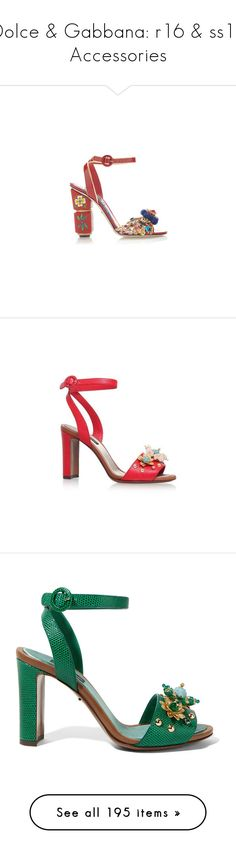 """""""Dolce & Gabbana: r16 & ss16 Accessories"""" by livnd ❤ liked on Polyvore featuring collection, dolcegabbana, Resort2016, springsummer2016, shoes, heels, footwear, patent shoes, red patent shoes and red patent leather shoes"""