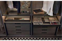 Senzafine Walk-In Closet by CR&S Poliform for Poliform | Poliform Australia