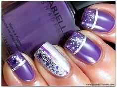 Nail, nail, nail / Barielle Grape Escape, Night Moves & Purple Hearts (the glitter topcoat) - PinNailArt, Organize and Share Nail Art You Love.Nail Art's Pinterest !
