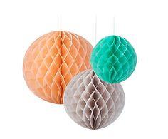 Set van 3 decoratieve bollen Saar, multicolour