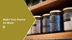 Make Your Pantry Do More!: A pantry is a great thing to have. Not only does it store all your dry goods in one place,… Informations About Make Your Pantry Do More!: A pantry is a great thing to have. Table Saw Safety, Dry Erase Paint, Closet Storage Systems, Driveway Repair, Patio Plans, Broken Bow, Cool Deck, Master Bath Remodel, Secrets Revealed