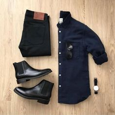 "Your casual clothes are the ones you wear on your own time. It's hard to put boundaries on what pieces of clothing count as ""casual"" and wh. Modern Mens Fashion, Men Fashion Show, Mens Fashion Suits, Classy Fashion, Men's Fashion, Stylish Mens Outfits, Casual Outfits, Men Casual, Style Masculin"