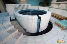 round concrete above ground pool - Google Search