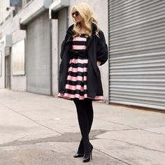 Stripe Prom Dress | Spotted on @blaireadiebee