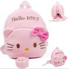 사랑스러운 hello kitty 아기 하네스 아이 골키퍼 어린이 배낭 아기 소녀 스트랩 가방 분실 방지 가방 산책 날개 1-3 년 아이