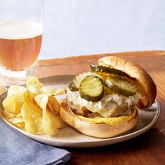 German-Style Turkey Burgers - Everyday with Rachael Ray Turkey Burger Recipes, Turkey Burgers, Hamburger Recipes, Real Food Recipes, Cooking Recipes, Yummy Food, Entree Recipes, Snack Recipes, Sandwich Recipes