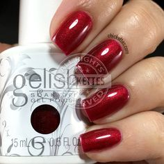 Gelish What's Your Poinsettia? Swatch by Chickettes.com