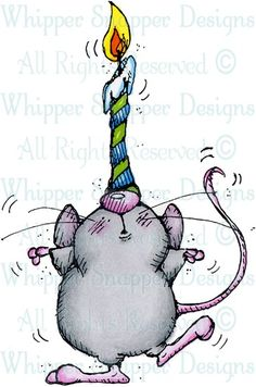 Mouse & Candle - Mice - Animals - Rubber Stamps - Shop