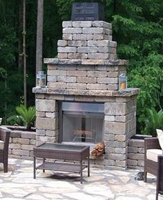 An Outdoor Fireplace Is A Great Way To Make Your Outdoor Space Into An  Extension Of Your Living Room. Matthews, A QUIKRETE Companies, Makes It  Easy With ...