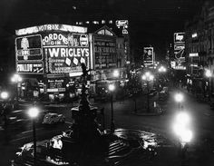 Piccadilly Circus at night | Via In 1819, the Piccadilly Circus junction was…