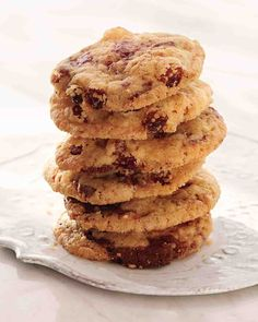 Cornmeal Chocolate-Chunk Cookies with Raisins and Fennel Seeds | Martha Stewart | Recipe