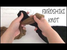 ▶ how to tie and untie a furoshiki knot | craftsdotcupcake
