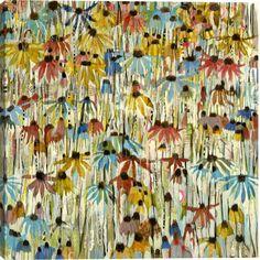 'Flower Power' by Artist Judy Paul- available through Surya's custom art program (PJ929E).