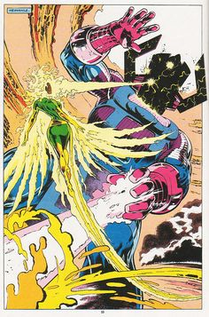 pages 12, 17 and 22 from Excalibur #61 by Alan Davis, Mark Farmer and Glynis Oliver  Rachel Summers vs. Galactus!