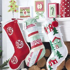 This article consists of 10 free Christmas stocking pattern tutorials with descriptions and pictures for each.  All of the stockings are made of fabrics.  The sewing level varies for different tutorials.