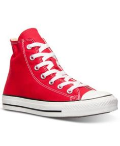 Converse Women's Chuck Taylor Hi Top Casual Sneakers from Finish Line canvas red sz7.5 54.99