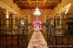 A #chuppah can be made of any material. Silk or quilted chuppot are increasingly common, and can often be customized or personalized to suit the couple's unique interests and occupations. #Wedding #Photography by #DominoArts (www.DominoArts.com)